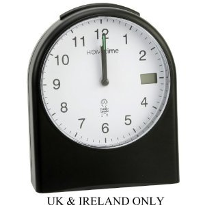 "Widdop Hometime ""Washington"" Radio Controlled Black Alarm Clock – 5265"