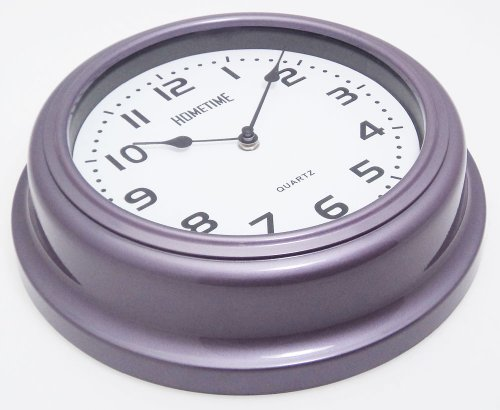 Retro USA Diner Style Dome Shaped Wall Clock – Funky Mauve