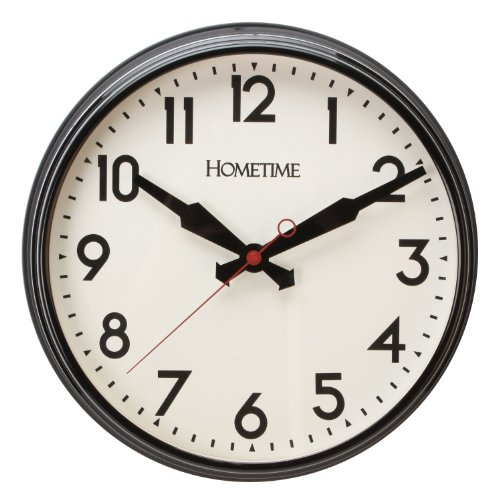 Large Classic Black & White Bold Traditional Office Kitchen Quartz Wall Clock