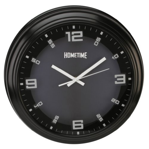 Large Black Deep Silent Wall Clock
