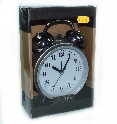 Traditional Style Bed Side Alarm Clock with Chrome Bell & Easy To Read Face