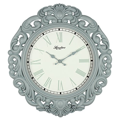 Large Vintage Art Deco Design Powder Blue Quartz Wall Clock Ht:45cm