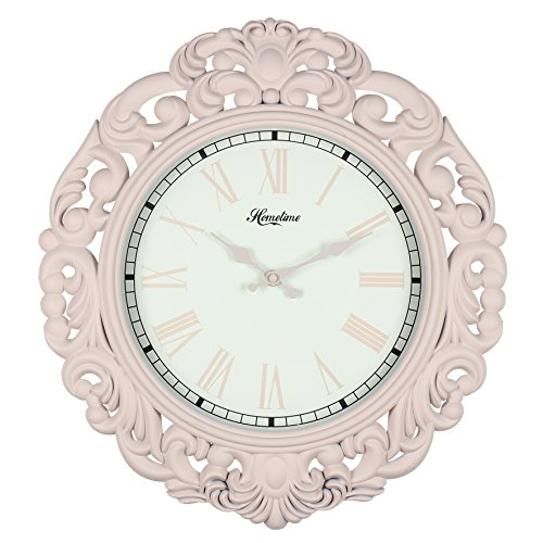 Large Vintage Art Deco Design Rose Petal Quartz Wall Clock Ht:45cm