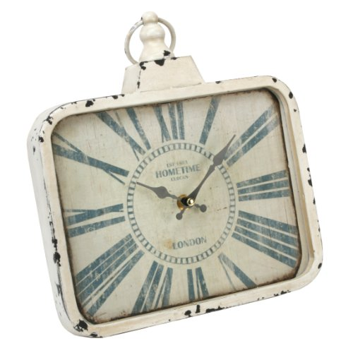 Hometime Oblong Mantel Clock & Handle Ant Cream 'Carlisle' – The Perfect Enhancement To Any Kitchen (W2995)