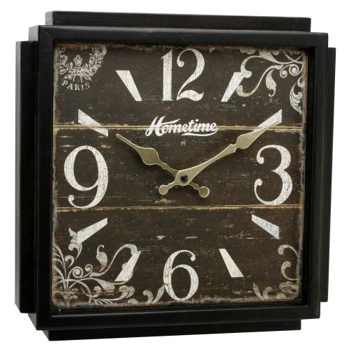 Square retro vintage clock – shabby chic Extra Large
