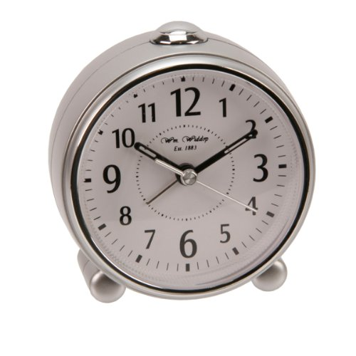 Widdop Alarm Clock Sweep, Beep, Snooze & Light – Silver