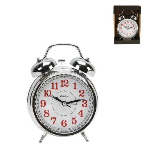 Hometime Chrome Quartz Double Bell Traditional Alarm clock