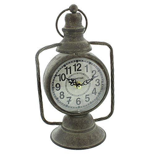 Hometime Mantel Clock Vintage Old Lantern Design 30cm