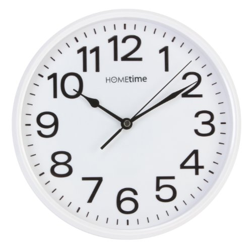 Stylish White Bold Classic Quartz Wall Clock Non Ticking Silent Sweeping Seconds