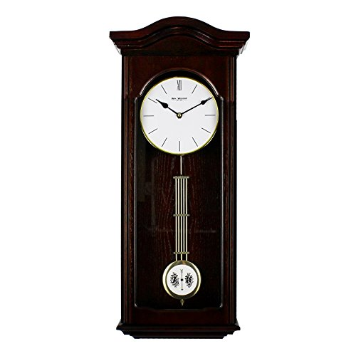 Hometime Wooden Vintage Style Pendulum Wall Clock W7680