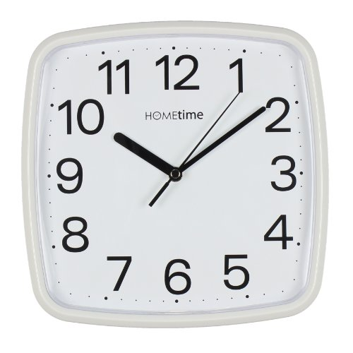 Retro Square White Silent Sweep Wall Clock