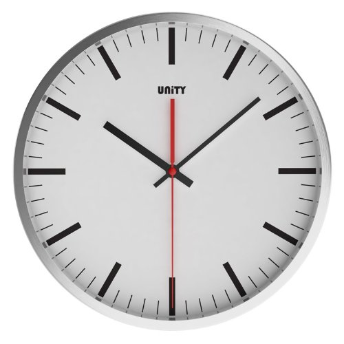 Unity Abberton Silent Sweep Wall Clock, White