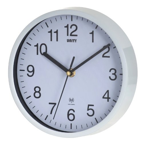 Unity 20 cm Radcliffe Radio Controlled 8-inch Wall Clock, White