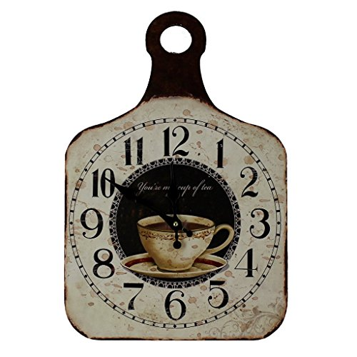 Vintage Shabby Chic Style Wall Clock Chopping Board Style , You're My Cup of Tea