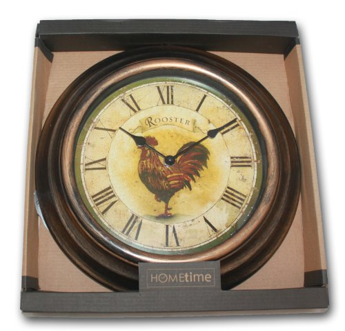 WALL CLOCK – SHABBY CHIC – ROOSTER FRENCH HEN – 30cm – Same Day Posting if Ordered by 12noon Weekdays Only