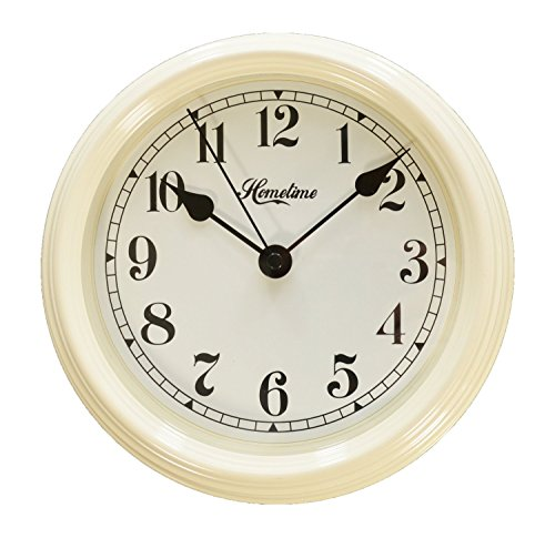 "Hometime Cream Metal Wall Clock Arabic Dial ""Oriana"" 22 cms"