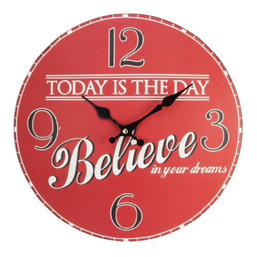 "Juliana Home Living Typography Wall Clock ""Today Is The Day"""