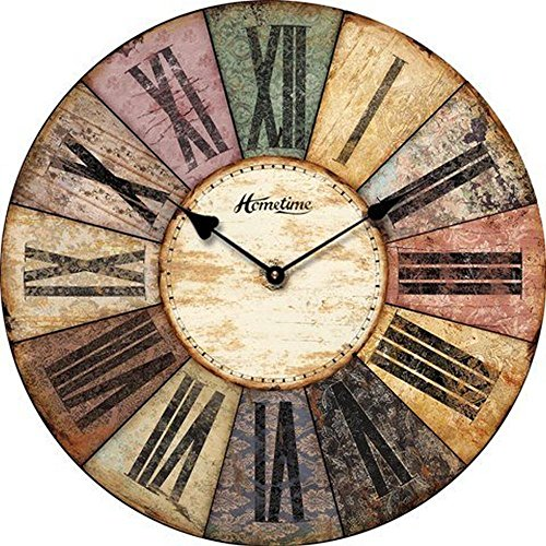 WALL CLOCK DESIGN HOMETIME SHABBY 30CM DIAMETER KITCHEN CLOCK ROUND SHAPE – Tinas Collection – the different design