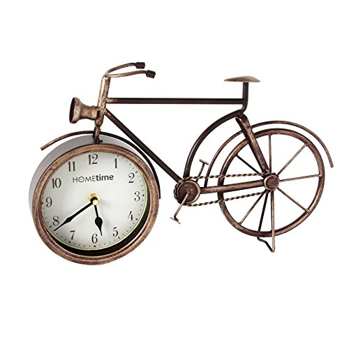 Hometime Metal Mantel Clock – Vintage Style Bicycle