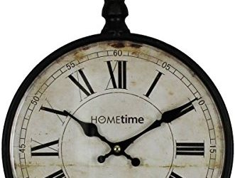 Black Pocket Watch Design Wall Clock by HomeTime