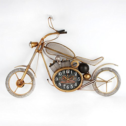 Hometime Metal Wall Clock – Motorbike 55cm