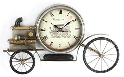 Hometime Metal Wall Clock – Old Fashioned Car 33cm