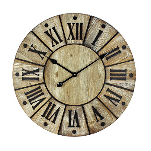 Large Sylish Hometime Wooden Wall Clock